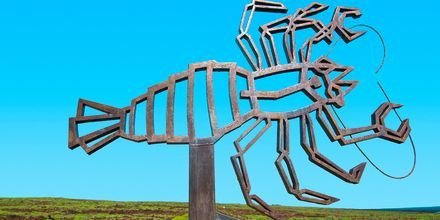 Kunstværk af César Manriques, Lanzarote, De Kanariske Øer, Spanien.