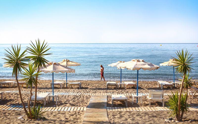 Strand ved Lardos på Rhodos, Grækenland.