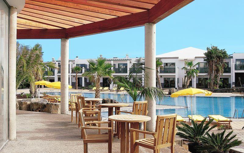 Poolrestaurant Hotel Las Marismas på Fuerteventura, De Kanariske Øer, Spanien.