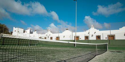 Tennis på Hotel Las Marismas på Fuerteventura, De Kanariske Øer, Spanien.