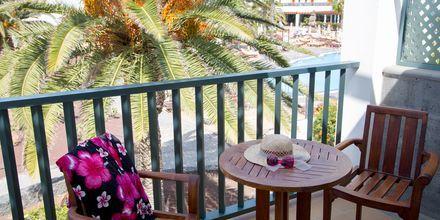 Balkon på Hotel Las Marismas på Fuerteventura, De Kanariske Øer, Spanien.