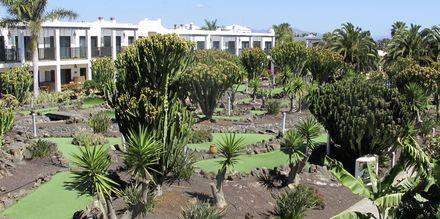 Minigolf på Hotel Las Marismas på Fuerteventura, De Kanariske Øer, Spanien.