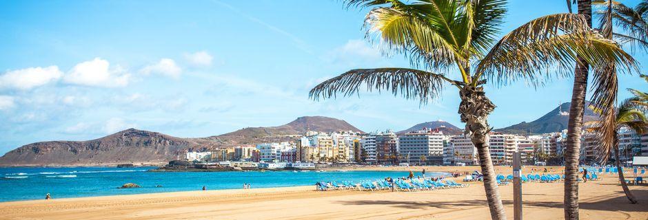 Sandstranden Las Canteras i Las Palmas på Gran Canaria, De Kanariske Øer.