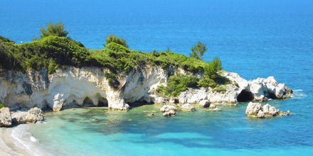 Kalamia Beach i Lassi på Kefalonia, Grækenland
