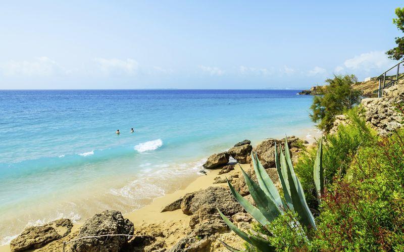 En af Lassis mange gode strande på Kefalonia, Grækenland