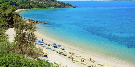 Stranden ved hotel Mediterranee i lassi, på Kefalonia, Grækenland