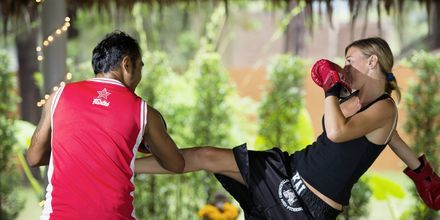 Thaiboxing på Layana Resort & Spa på Koh Lanta, Thailand.