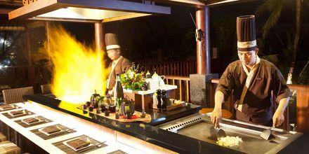 Restaurant Yuyake Teppanyaki på hotel Legian Beach i Kuta på Bali.