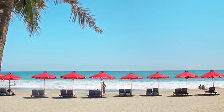 Stranden ved hotel Legian Beach i Kuta på Bali.