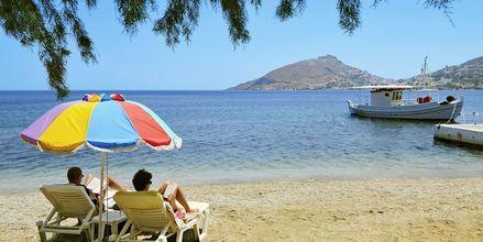 Afslappende dage på stranden på Leros.
