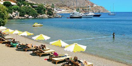 På Leros findes der mange smukke strande at vælge blandt.