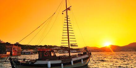 Smuk solnedgang på Leros.