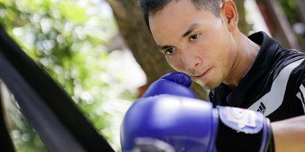 Thaiboxing på Let's Sea Hua Hin Al Fresco Resort i Thailand.