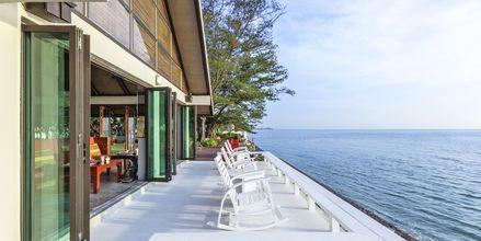 Strandrestauranten på Let's Sea Hua Hin Al Fresco Resort i Thailand.