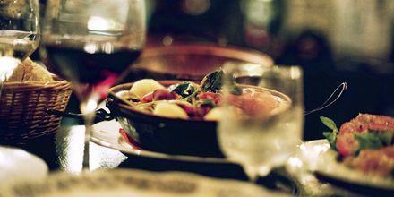Restauranter og lækker mad i Lissabon, Portugal.