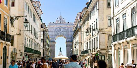 Rua Augusta, en af hovedgaderne i Lissabon.