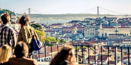 Udsigt i Lissabon, Portugal.
