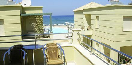 Balkon på Hotel Lissos på Kreta, Grækenland.