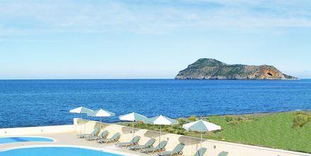 Poolområde på Hotel Lissos på Kreta, Grækenland.