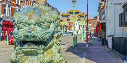 Chinatown, Liverpool i England.