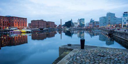 Albert Dock, Liverpool i England.
