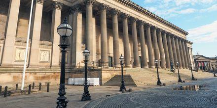St George Hall, en kendt arkitektonisk perle, Liverpool i England.