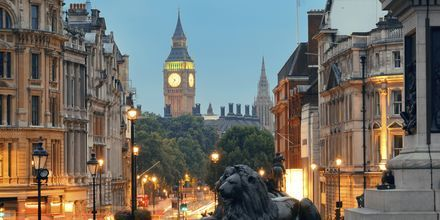 Trafalgar Square i London, Storbritannien.