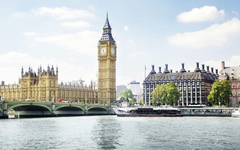 Big Ben og West Minister Abby i London, Storbritannien.