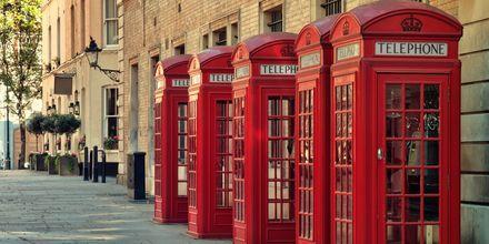 De klassiske røde telefonbokse.