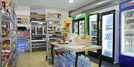 Supermarked på Hotel Los Alisios på Tenerife, De Kanariske Øer.