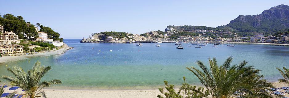 Udsigt fra Hotel Los Geranios i Puerto de Sóller, Mallorca.