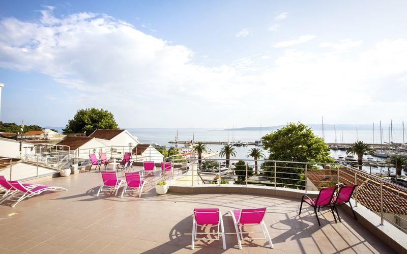 Udsigt fra hotel Luxur i Baska Voda, Kroatien