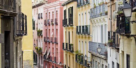 Bydelen Lavapiés er et farverigt område med en multikulturel følelse.