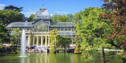 Palacio de Cristal i Retiro Park, bygget i 1887.