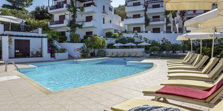 Poolområde på Hotel Maistros på Skopelos.