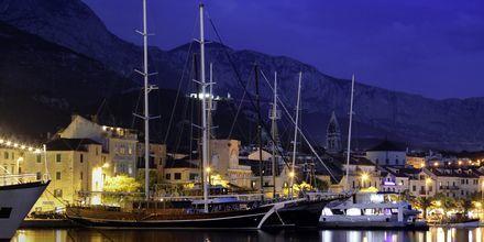 Havn på Makarska Riviera, Kroatien.