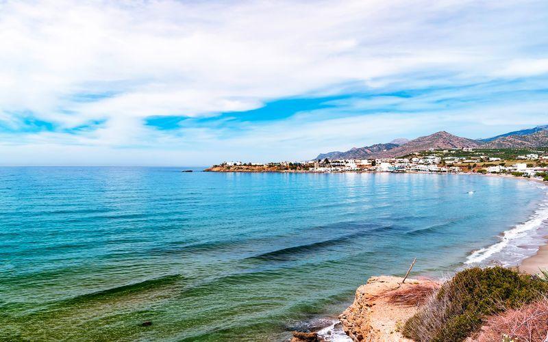 Strand i Makrigialos på Kreta, Grækenland