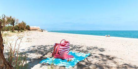 Stranden i Maleme på Kreta, Grækenland.