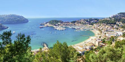 Hyggelige Puerto de Sóller minder om en fransk eller italiensk riviera.