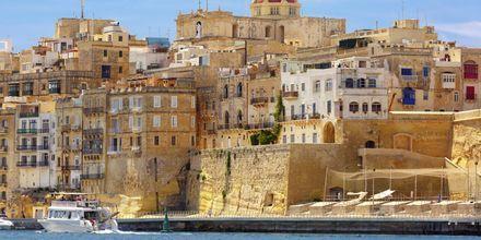 Havnen i Maltas hovedstad, Valletta.