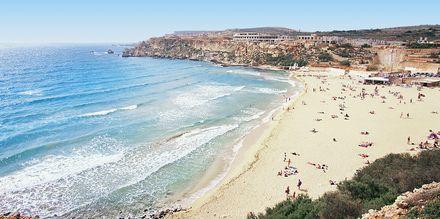 Smuk strand på Malta.