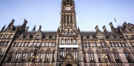 Manchester Town Hall i Manchester er en statelig bygning.