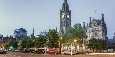 Manchester Town Hall fra en anden vinkel.