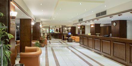 Reception på Hotel Manousos på Rhodos, Grækenland.