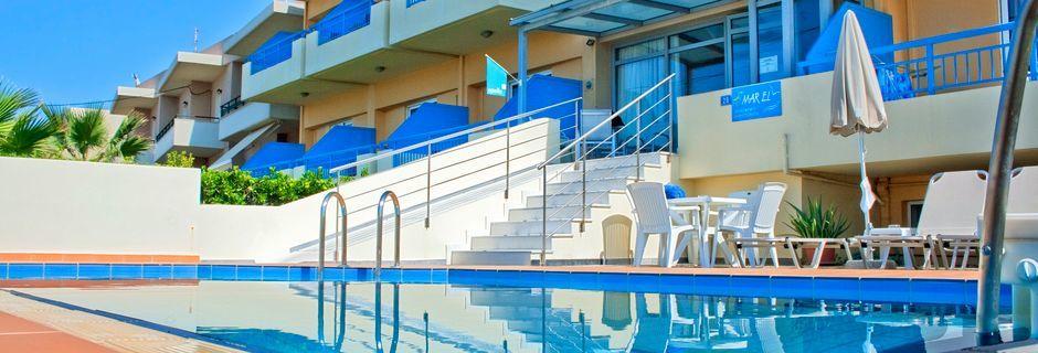 Pool på Hotel Marel i Rethymnon på Kreta, Grækenland
