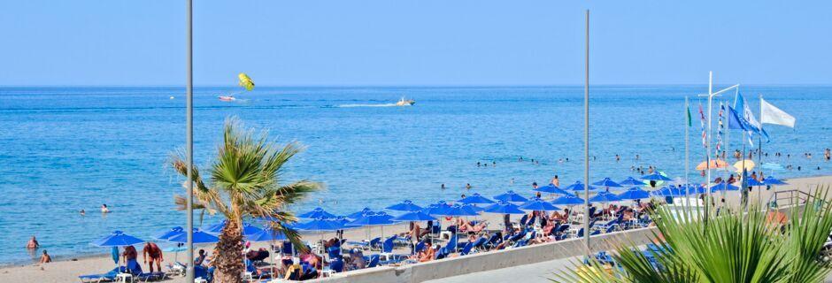 Strand ved Hotel Marel i Rethymnon på Kreta, Grækenland