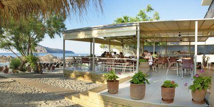 Restaurant på Margarita Beach Resort G D's Hotels på Kreta, Grækenland.