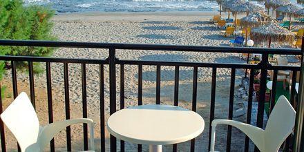 Balkon på Margarita Beach Resort G D's Hotels på Kreta, Grækenland.