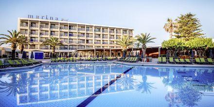 Pool på Hotel Marina Beach i Gouves, Kreta.