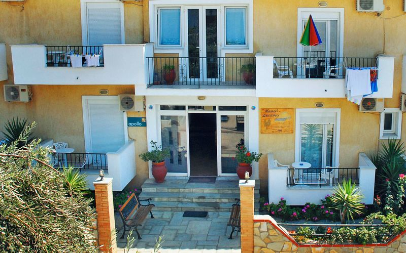 Hotel Mario i Megali Ammos på SKiathos, Grækenland
